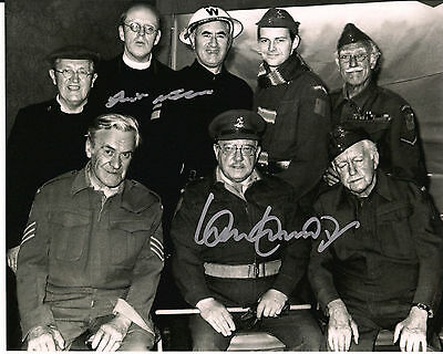 IAN LAVENDER & FRANK WILLIAMS Dad's Army Original Signed Autograph 8x10 Photo 8