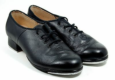 Bloch #2T Shockwave Tap Dancing Black Leather Shoes Women's Size 6