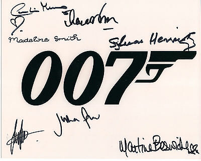 JAMES BOND Original Signed Autograph 8x10 Photo James Bond 007 Bond Girls & More