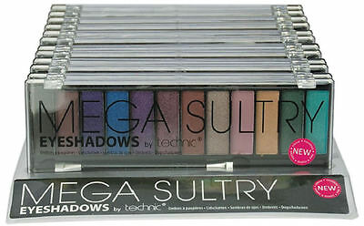 Technic Mega Sultry Eyeshadow Palette - Bright Colours Makeup Eyes Party