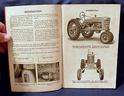 Vintage International Harvester Farmall Tractor Owners Manual - Circa 1948!
