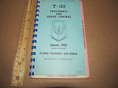 T-33 Flight Crew Checklist  Procedures And Cruise Control Air Force 1955