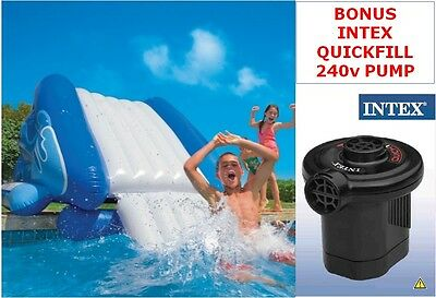 New Genuine Intex Giant Water Slide Inflatable Kids Swimming Pool Toy with Pump