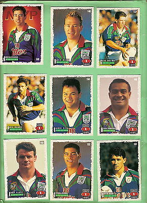1995  Series 1  Auckland Warriors   Rugby League Cards