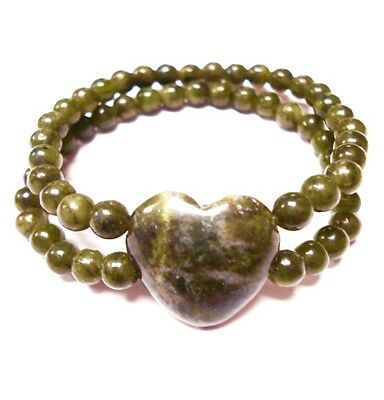 Irish Connemara Marble Heart Stretch Bracelet by J. C. Walsh & Sons