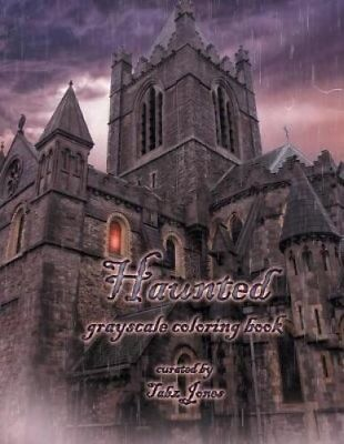 Haunted Grayscale Coloring Book By Tabz Jones Paperback Softback 2017