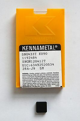 Insert Sng 433T Kennametal Ceramic Grade K090 New Pack Of10 Pcs