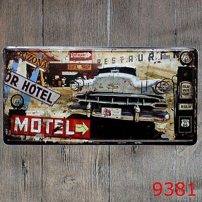 Metal Tin Sign us 66 motel Decor Bar Pub Home Vintage Retro Poster Cafe ART