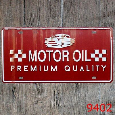 Metal Tin Sign motor oil Decor Bar Pub Home Vintage Retro Poster Cafe ART
