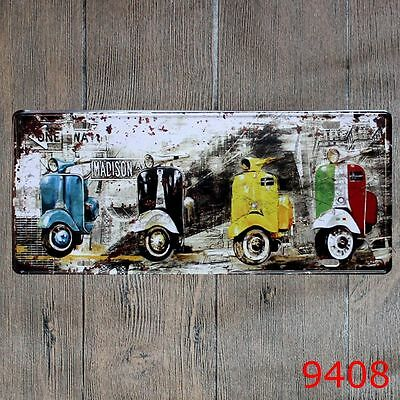 Metal Tin Sign vintage motor Decor Bar Pub Home Vintage Retro Poster Cafe ART