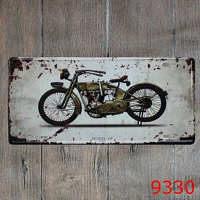 Metal Tin Sign vintage moto Decor Bar Pub Home Vintage Retro Poster Cafe ART