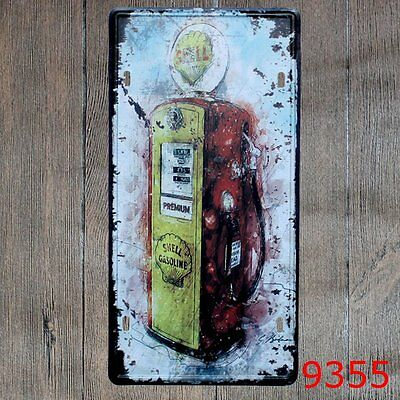 Metal Tin Sign smell gasoline Decor Bar Pub Home Vintage Retro Poster Cafe ART