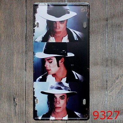 Metal Tin Sign michael jackson Decor Bar Pub Home Vintage Retro Poster Cafe ART