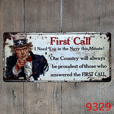 Metal Tin Sign first call Decor Bar Pub Home Vintage Retro Poster Cafe ART