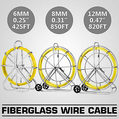 6/8/12mm Fiberglass Wire Cable puller Electrical Coaxial GREAT UPDATED GOOD