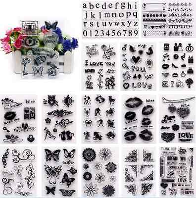Silicone Clear Rubber Stamps Seal Scrapbooking Album Card Making Decorating Tool