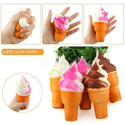 Squeeze Squishy Ice Cream Slow Rising Stretch Phone Strap Relieve Vent Toy WRB