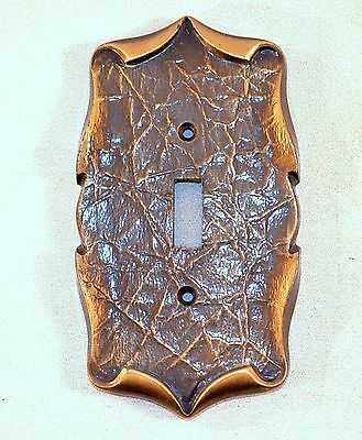 Vintage 1971 Amerock Ornate Antique Brass Color Single Light Switch Plate Cover