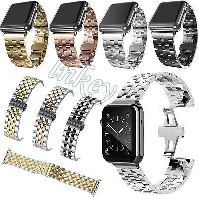 New Apple Watch Band Solid Stainless Steel Metal iWatch Strap Bracelet 38mm/42mm