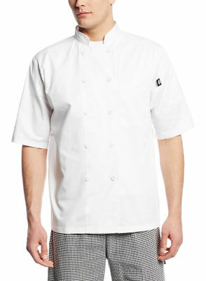 Dickies Chef Men's Short Sleeve Single Needle Top Stitching Chef Coat. DC412