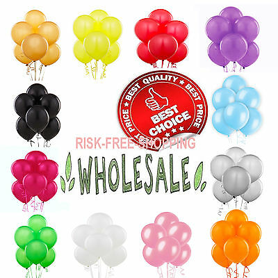 100- LARGE PLAIN BALONS BALLONS helium BALLOONS Quality Birthday Wedding BALOONS