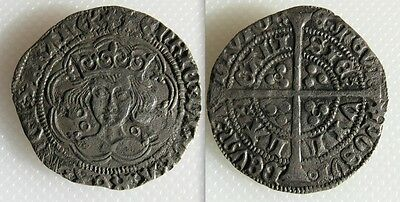 Collectable King Henry VI Groat - 1422-30 - Mint Mark Pierced Cross Calais