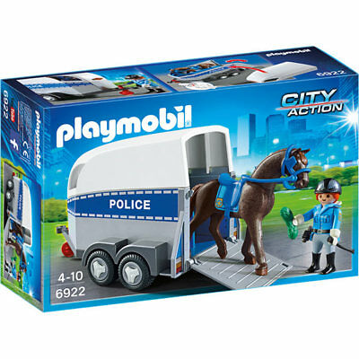 PLAYMOBIL Police with Horse and Trailer - City 6922