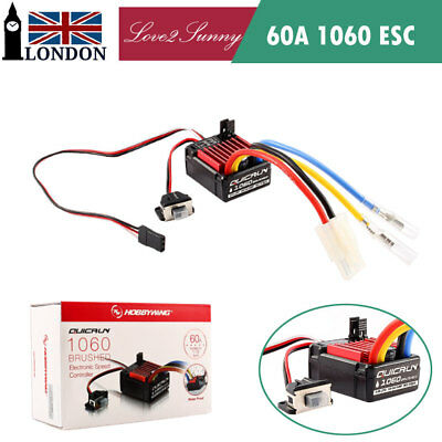 QuicRun 60A 1060 Waterproof Brushed Speed Controller ESC for RC 1/10 Car Crawler
