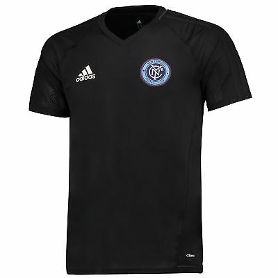 adidas Mens Gents Football New York City FC Training Shirt Jersey Top - Black