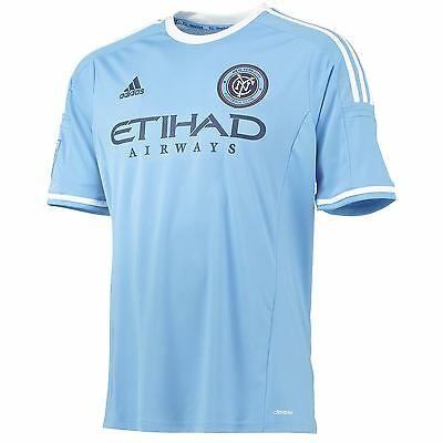 adidas Mens Gents Football Soccer New York City FC Home Shirt Jersey Top 2015-16