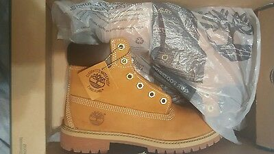 Timberland kids premium waterproof  Boot wheat nubuck