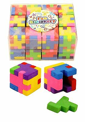 Puzzle Cube Novelty Pencil Erasers/Rubber Cube Puzzle Eraser Kids Party Bag Gift