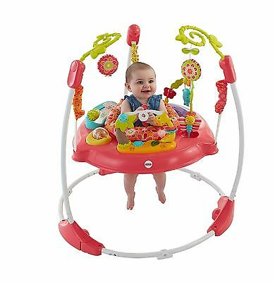 FISHER PRICE JUMPEROO Pink Infant Baby Toddler Girl Play Music Lights Sounds NEW