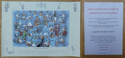 Legends of Maine Road Limited Edition Multi Signed Man City Print (10210)