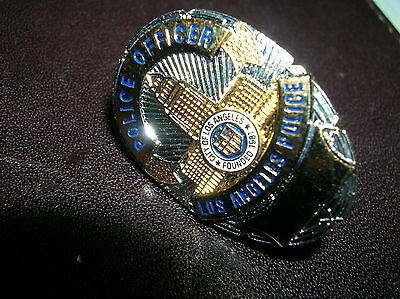 """City of Los Angeles  Police Officer CALIFORNIA 1"""" Mini  Badge PIN Tie Tac 1"""""""
