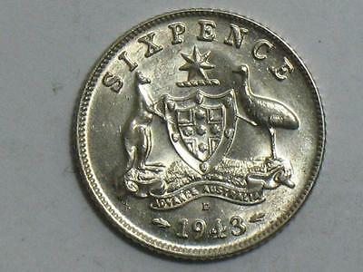 1943 Great Britain Sixpence - 6 Pence Uk World Foreign Coin