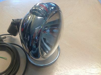 UNITY pistol GRIP Clear Glass SPOT LIGHT lamp w SWITCH on stand VINTAGE
