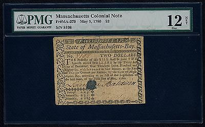 Massachusetts Colonial Currency - May 5, 1780 -$2
