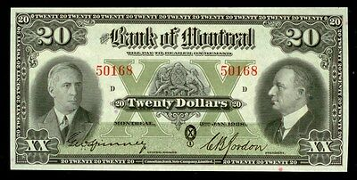 1938 Bank Of Montreal 20 Dollar P# S563 Rare Choice Crisp Unc Ppq