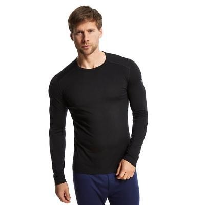 Icebreaker Mens Oasis Crew Base Layer Outdoor Clothing Black