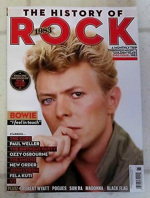 HISTORY OF ROCK 1983 Issue No 19 DAVID BOWIE Madonna OZZY OSBOURNE New Order NEW