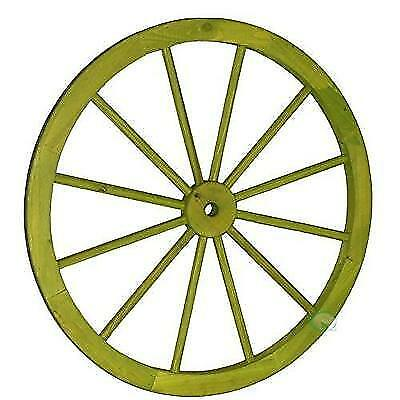 Vintiquewise(TM) Decorative Antique Cottage Green Wagon Garden Wheel, 31-Inch