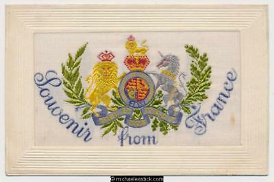 WWI Woven Silk, Souvenir from France