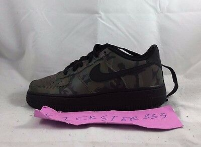 Nike Air Force 1 One LV8 Low GS 3M Green Camo Black White 820438-201 4Y-7Y NEW