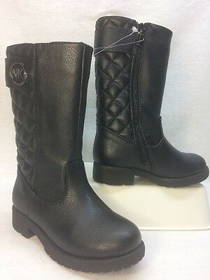 NEW Michael Kors Girl's Dhalia Loudi Boots SHOES in BLACK, Youth Size 8 (Kids)