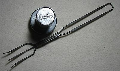 Lot of 2 Antique Rumford Baking Powder Adv Items:  Biscuit ~ Donut Cutter & Fork