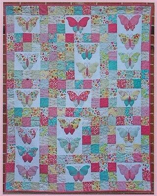Flutter By Butterfly - pretty applique & pieced quilt PATTERN - Two Brown Birds