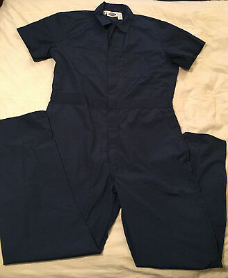 Mens Chest 46 Long Dickies Short Sleeve Thin Coveralls Utility Jumpsuit New