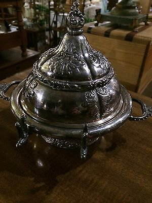 Vintage Rogers & Smith Covered Butter Dish Ornate Victorian Meridian