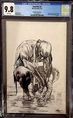 Iron Fist #1 Gabriele Dell'Otto Sketch CGC 9.8 Variant Limited To 600 IN-HAND